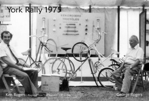 1975: K & G Rogers at York Cycle Rally. Kindly provided by Martin Purser of the Tricycle Association.