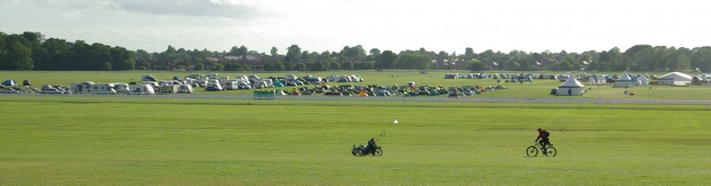 2010 York Rally - riders set off past the site. Photo: Peter Eland