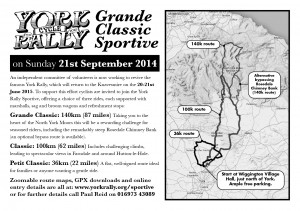 York Rally Sportive - A5 mono leaflet, JPG format for online use