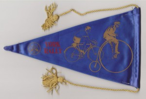 A York Rally pennant, exact year unknown, probably late 1960s. Scanned from Dave Bishop's collection.