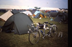"1996: ""My junior back tandem built for me by Bob Jackson in Leeds, I sold it to a vicar in Chester. I still have the Sauders Spacepacker also in the picture."" Photo: Barry Raynor"