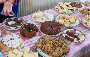 Cakes at Riccall Chapel, 2015. Photo: Dave Dodwell.