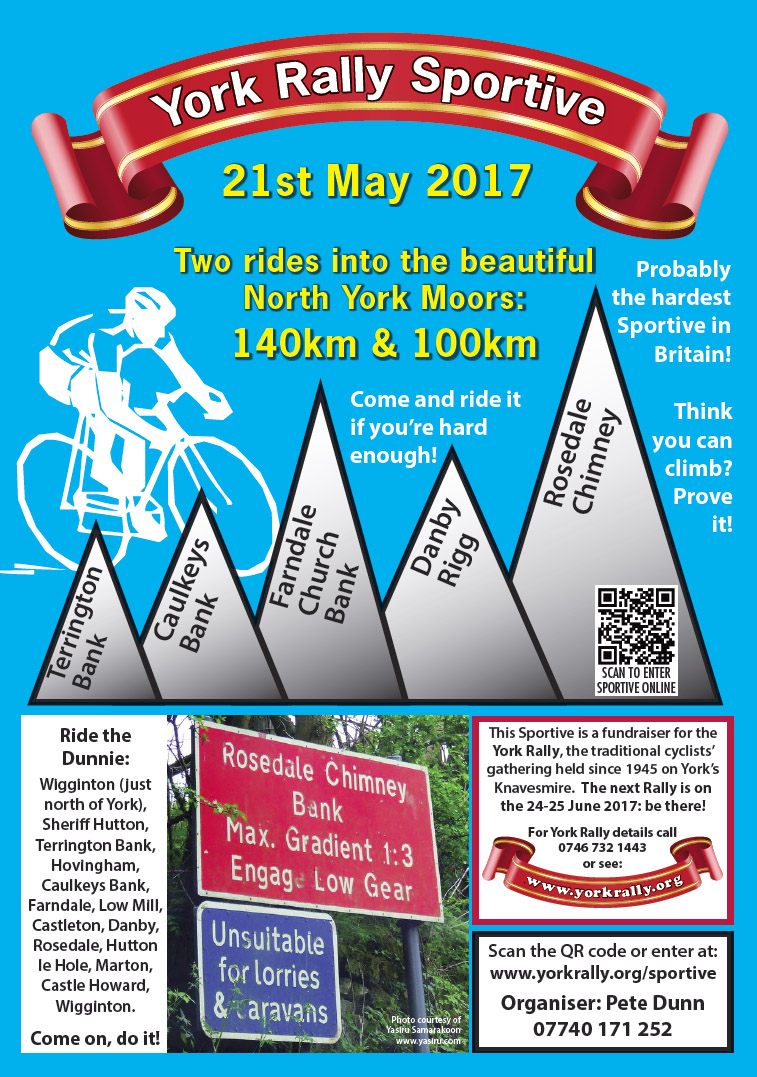 York Rally Sportive 2017 flyer