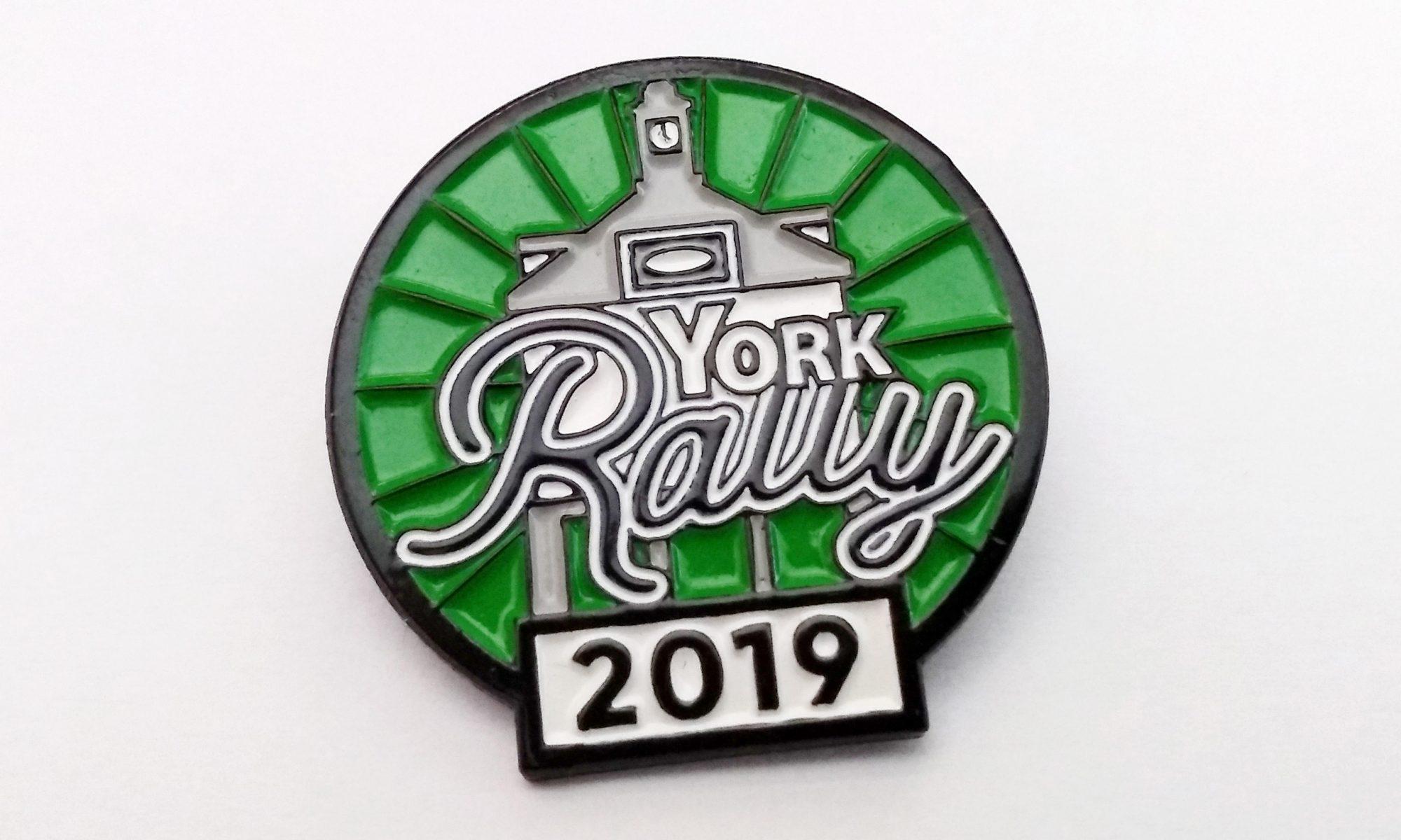 York Rally badge 2019