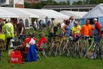 Displays of classic bikes at the York Rally 2019