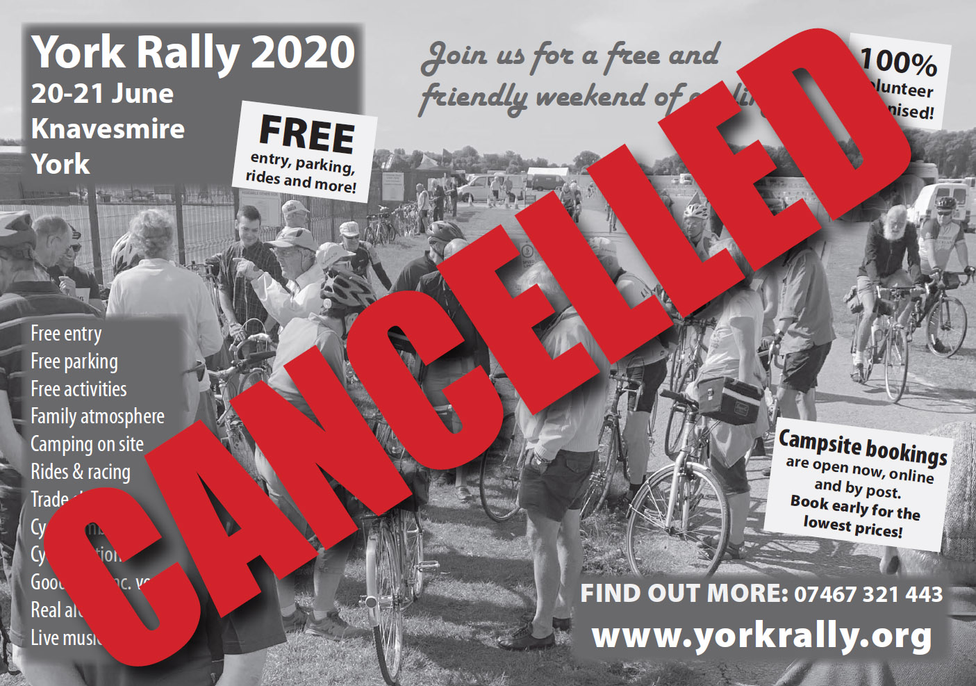 2020 York Rally cancelled