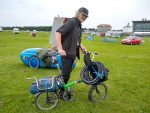 Rider with Brompton