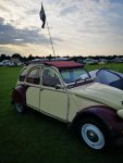 A 2CV on the York Rally campsite