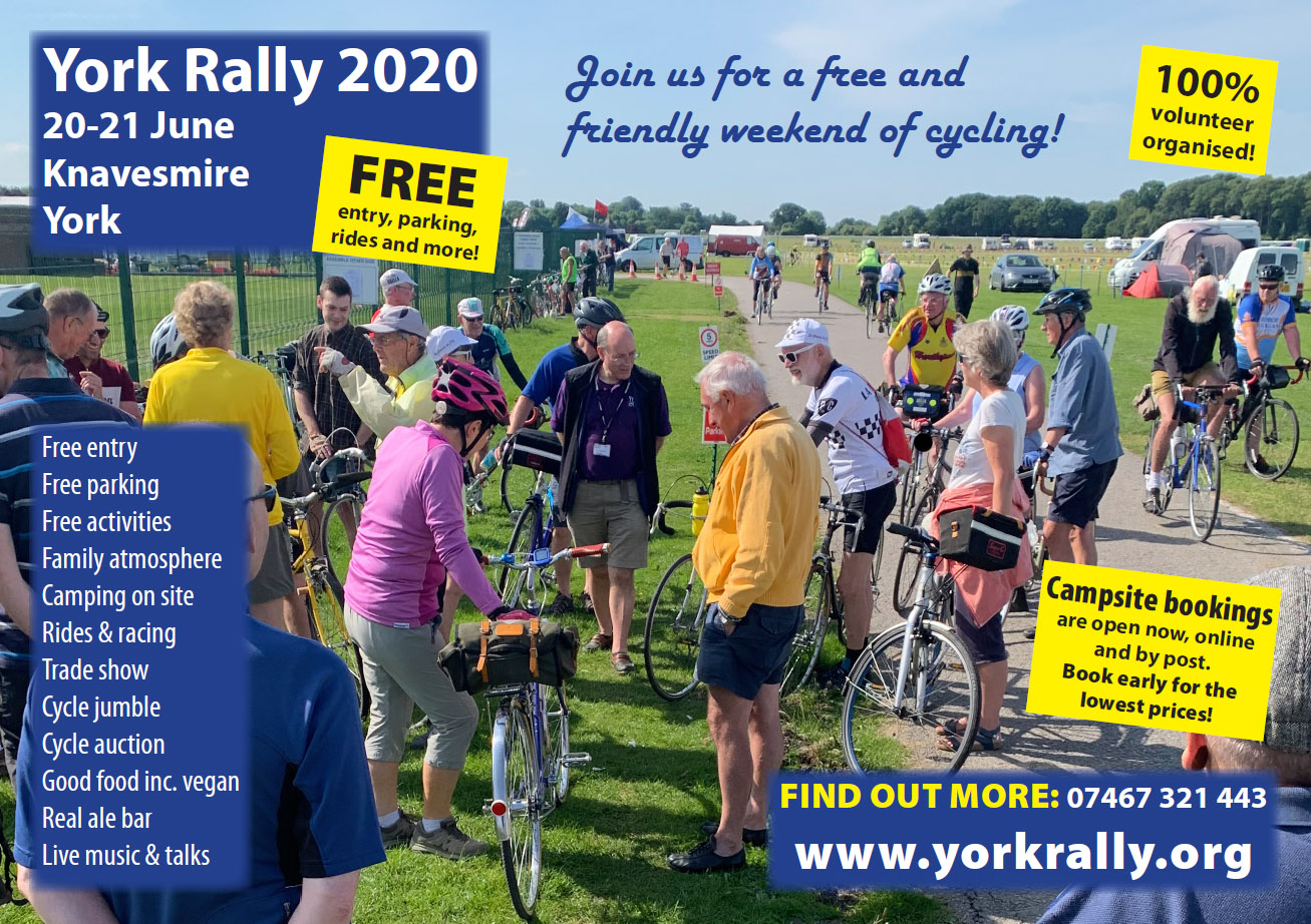York Rally 2020 poster - main image by David Kimberley